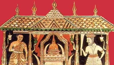 Detail of Maligawa painting